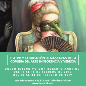 Cursos a medida ILE - Cabecera -Teatro y fabricación de máscaras de la comedia del Arte
