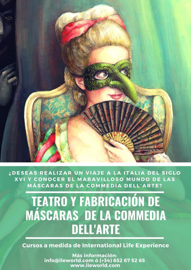 Cursos a medida de Teatro y fabricación de máscaras de la Comedia del arte de ILE