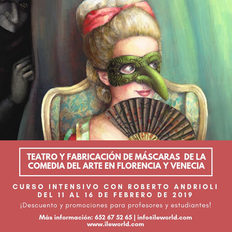 ILE - Cabecera -Teatro y fabricación de máscaras de la comedia del Arte 1