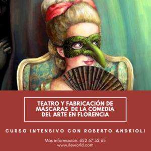 ILE - Fabricación de máscaras de la comedia del arte en Florencia